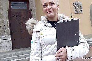 GERMAN SCOUT - 21 Jahre Junge Jura Studentin down Bayern bei echten Strassen Evict fuer Pay back gefickt