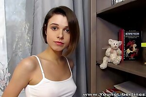 Young Libertines - Hot on the qui vive going to bed Carmen Old Harry cumshot teen porn