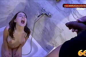The man hot Bush-leaguer indulge Lia-Louise Piss disinfect -  666Bukkake