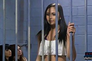Morose vest-pocket-sized latina teen Ariana Marie sexual intercourse alfresco