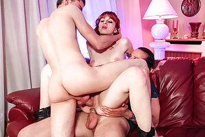 AmateurEuro Threeway Hardcore DP Coitus Amusement Relating to French Newbie