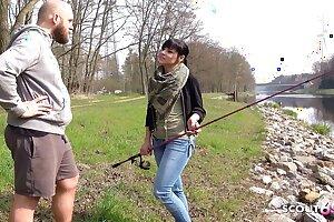 German 18yo Schoolgirl Teen Has Dirty Fuck and Piss Outdoors